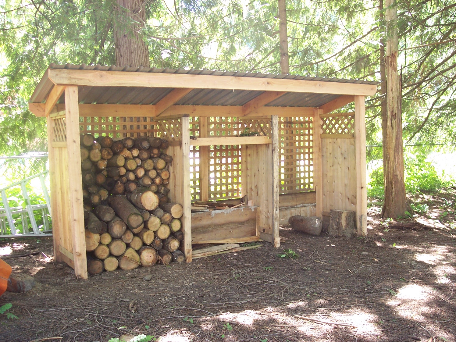 Completed wood shed