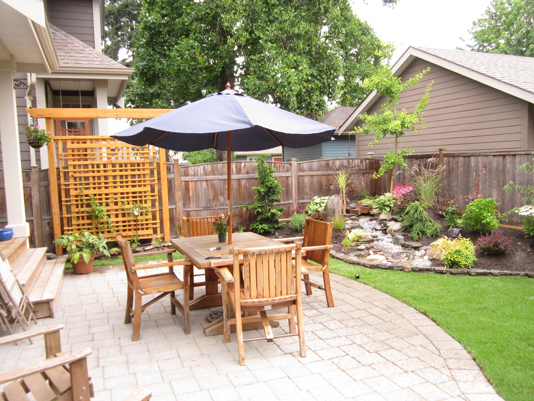 Small backyard makeover srp enterprises 39 weblog for Small patio design plans