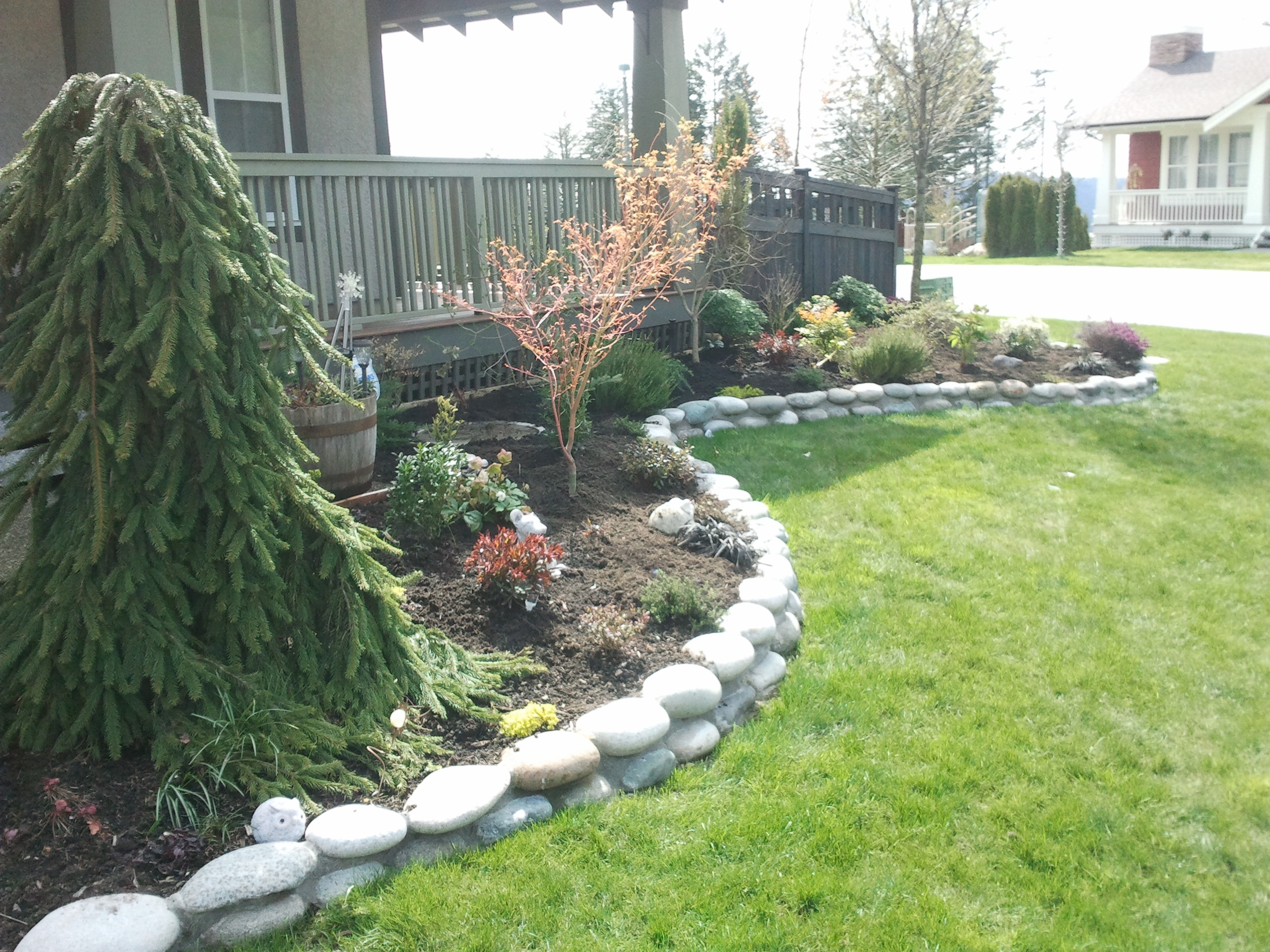 Edge Garden Landscape Rocks : River rock garden edge srp enterprises we